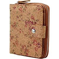Vegan Cork Wallet, Boshiho Women's Purse Slim Zipper Design with Card Holder Coin Pocket Purse Eco-Friendly Vegan Gift