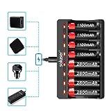 Soluser AA AAA Smart Battery Charger, 8 Bay AA