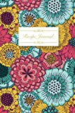 Recipe Journal: Blank Cookbook, Recipes & Notes, Recipe Notebook, Travel Size (6x9), 125 Pages, Floral