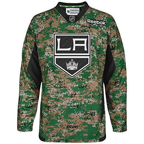 Los Angeles Kings Reebok NHL 2013 Edge Camouflage Pre-Game Warm Up Jersey -