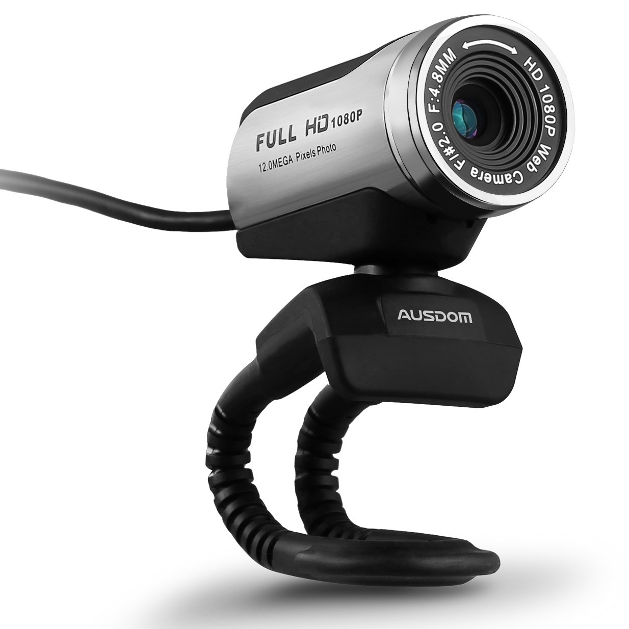 AUSDOM Webcam 1080p Video Calling and Recording, Web camera with Built-in Microphone for Laptops/Desktop/Computer AW615