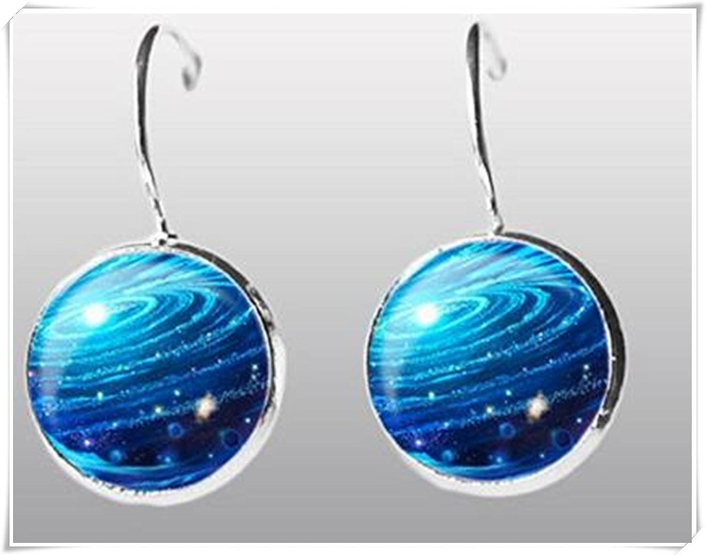Azul Galaxy nebulosa de pendientes. Pendientes.