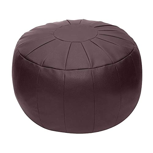 Rotot Unstuffed Pouf Cover, Ottoman, Bean Bag Chair, Foot Stool, Foot Rest, Storage Solution or Wedding Empty New Puce, Brown