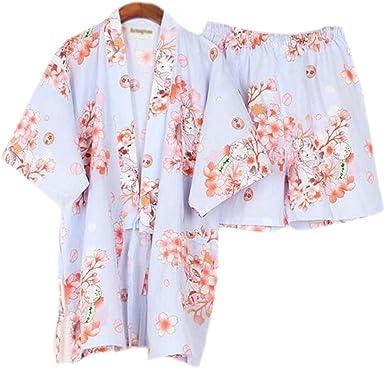 Las mujeres del estilo japonés de algodón fino albornoz ...