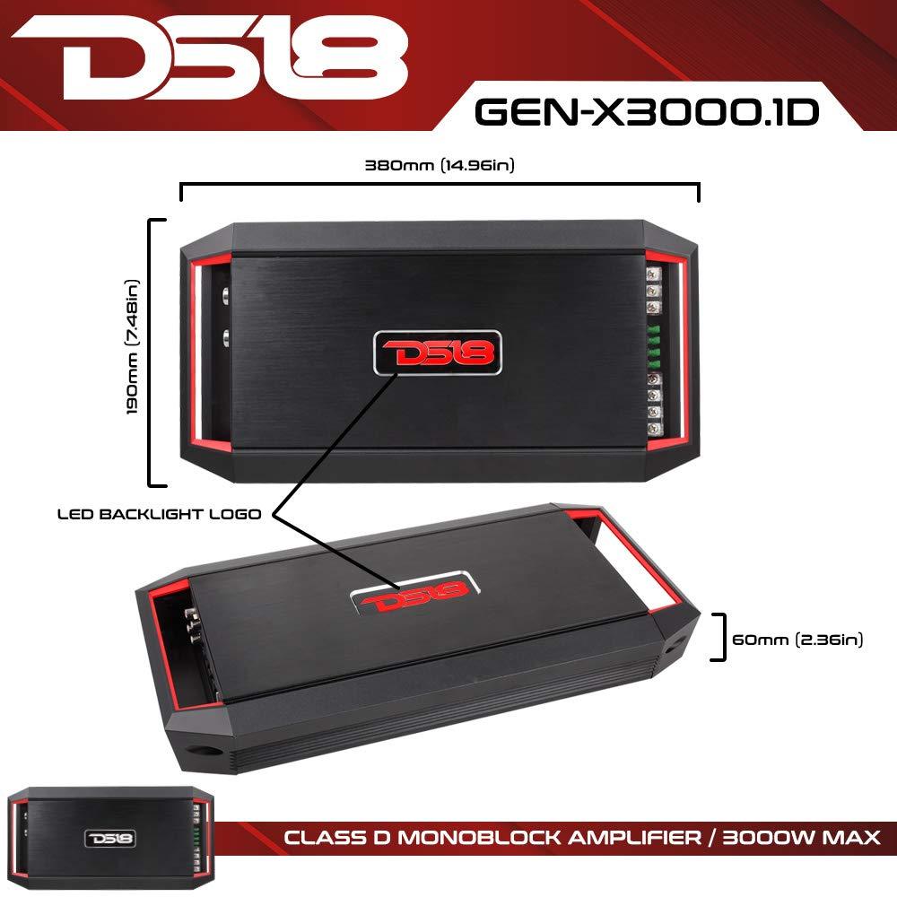 Ds18 Gen X30001d 3000w Peak 700w Rms 2 Ohm Cea Amplifier Using Tda2009a 12 Watt 15x2 Audio Compliant 1 4 Stable Class D Mono Car With Remote Subwoofer Control Cell