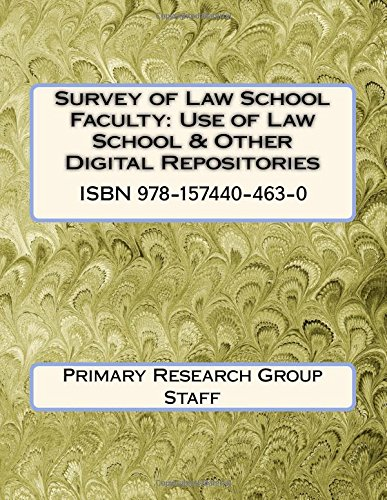 Survey of Law School Faculty: Use of Law School & Other Digital Repositories