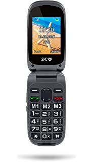 SPC Flip - Teléfono móvil (Dual SIM, Números y letras grandes ...