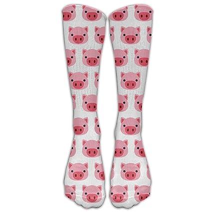 Adultos Unisex Looney Tunes calcetines Pig Face medias calcetines largo colorido sólido mezcla de algodón Casual