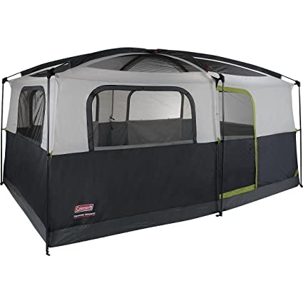 Coleman Prairie Breeze 9-Person Cabin Tent Black and Grey Finish  sc 1 st  Amazon.com : coleman hampton cabin tent - memphite.com
