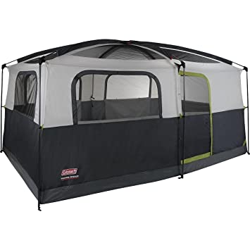 Genial Coleman Prairie Breeze 9 Person Cabin Tent, Black And Grey Finish