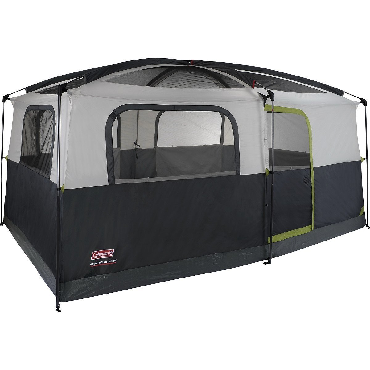 Coleman Prairie Breeze 9-Person Cabin Tent, Black and Grey Finish by Coleman (Image #1)