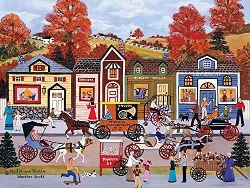 Ceaco Hustle and Bustle Puzzle by Jane Wooster Scott - 300 Pieces