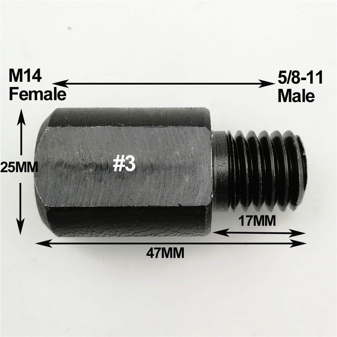 2pcs Core Bits adaptateur connexion Convertisseur Diff/érent Fil de Meule Adaptateur M14 /à M10