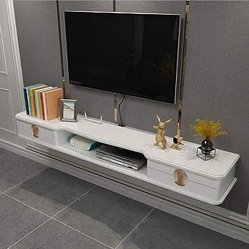 Mueble de TV montado en la Pared Estante de TV Dormitorio Sala de Estar Estante de Pared Estante Flotante Estante de Almacenamiento Multimedia Gabinete de Almacenamiento Multifuncional Consola de TV: Amazon.es: Electrónica