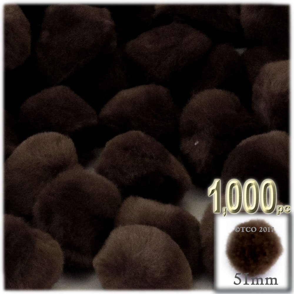 The Crafts Outlet 1,000-Piece Multi purpose Pom Poms, Acrylic, 51mm/about 2.0-inch, round, Cream by The Crafts Outlet (Image #3)