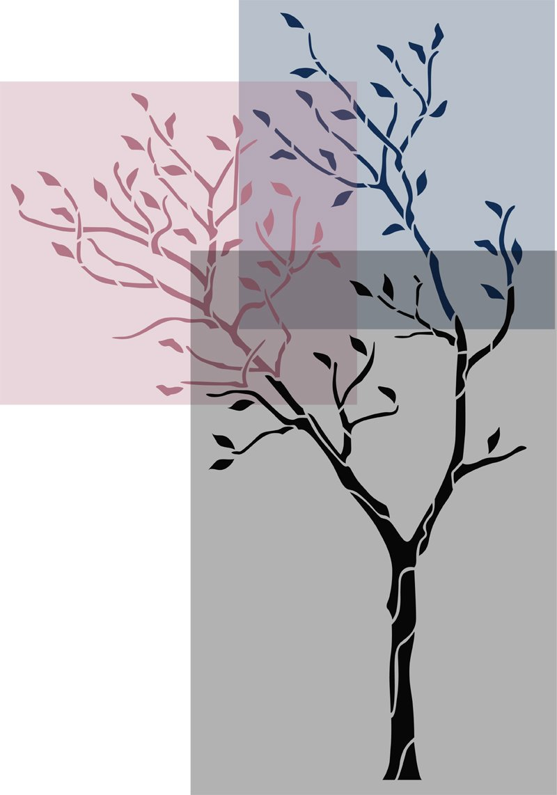 J boutique stencils large tree with birds wall stencil reusable j boutique stencils large tree with birds wall stencil reusable stencil for better than wallpaper amazon diy tools amipublicfo Images