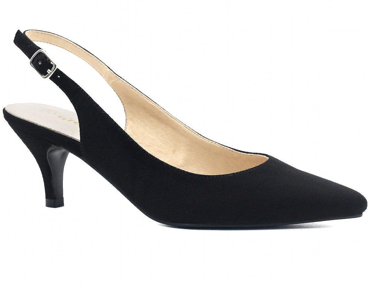 16d3f94b2b4 Greatonu womens slingback dress pump pumps jpg 1279x984 Dressy low heel  shoes