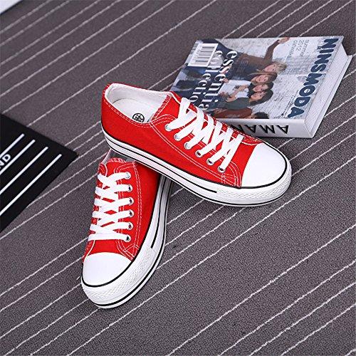 MINIVOG Womens Canvas Fashion Walking Shoes Red UEeBiC