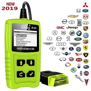 JDiag OBD2 de diagnóstico automático Escáner OBDII para todos los vehículos desde 2000 con modos OBD2