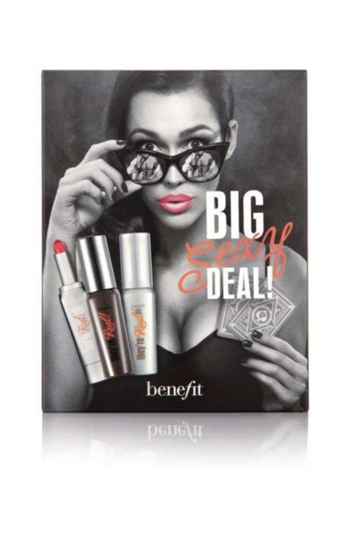 Benefit Cosmetics They re Real Mascara, Lipstick tinted Primer Big Sexy Deal 3-Pc Trio Set