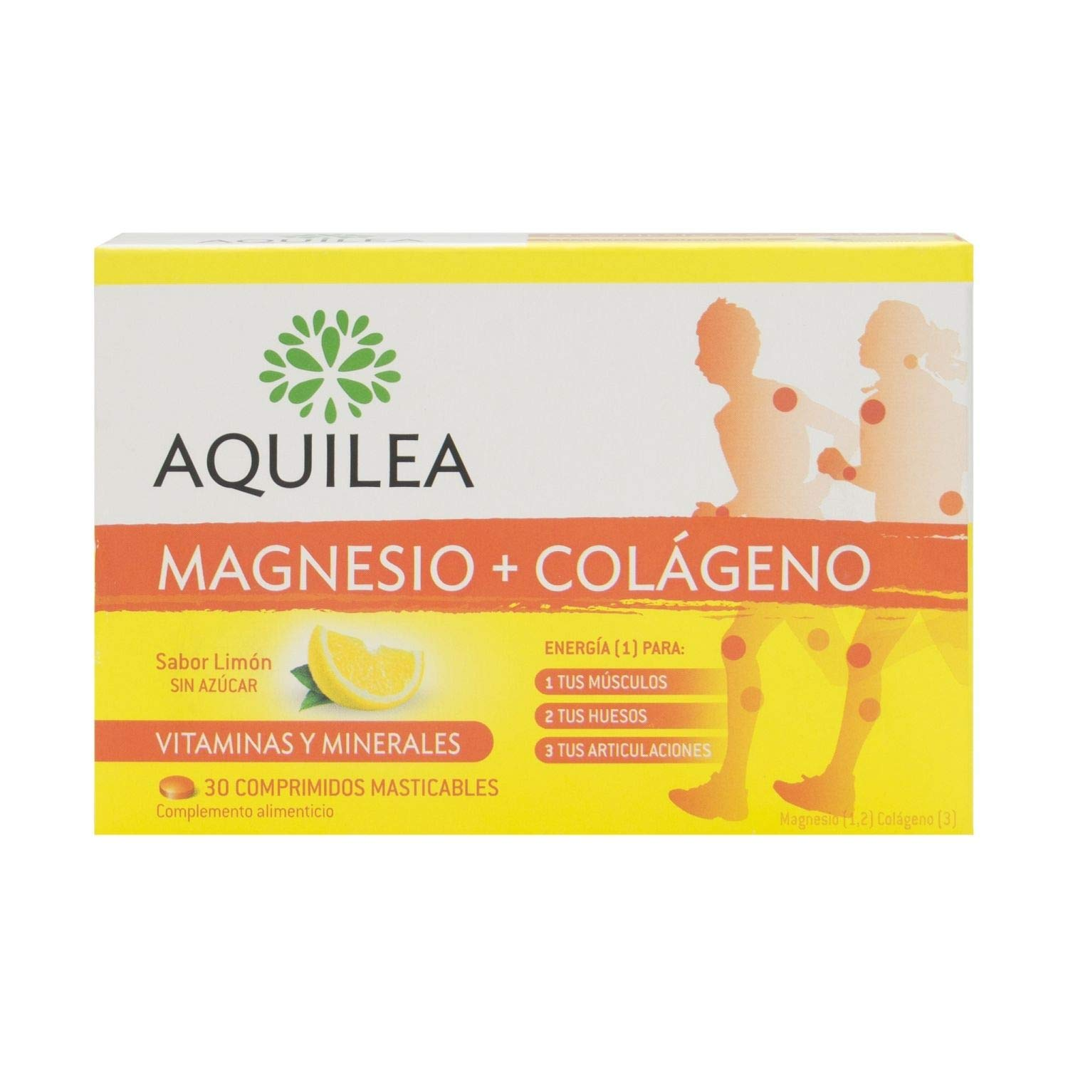 Amazon.com: Aquilea Yarrow Magnesium + Collagen 30 Capsules - Chewable Tablets to Strengthen Joints - Provides Energy and Strength - Suitable for Athletes ...