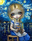 """""""Alice in a Van Gogh Nocturne"""" Open Edition Remarqued Canvas Art Print with SIGNED COA by Jasmine Becket-Griffith"""
