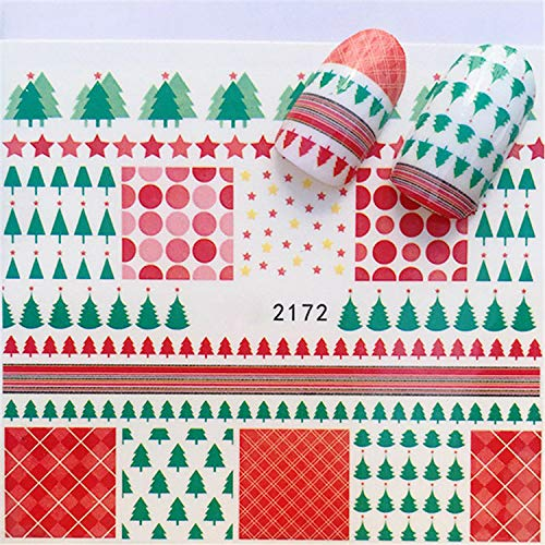 Nail Sticker Art Decoration Slider Merry Christmas Tree Hats Adhesive Water Decals Manicure Lacquer Accessoires Polish Foil Chocolate - Strass Chocolate