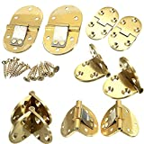 Saver 2pcs Solid Brass Butler Tray Hinge Round Edges With Screws