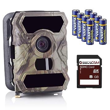 SECACAM HomeVista Full HD Profesional para Exteriores, cámaras de Seguridad Wild Cámara Visión Nocturna 100 ° Gran Angular 12 MP 1080P 0,4 seg ...