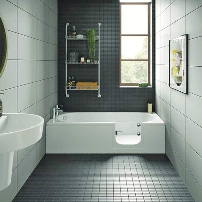 Bañera con puerta, senior bañera 169,5 x 70 x 51 cm Con bañera Delantal y desagüe/Sifon, derecho): Amazon.es: Bricolaje y herramientas