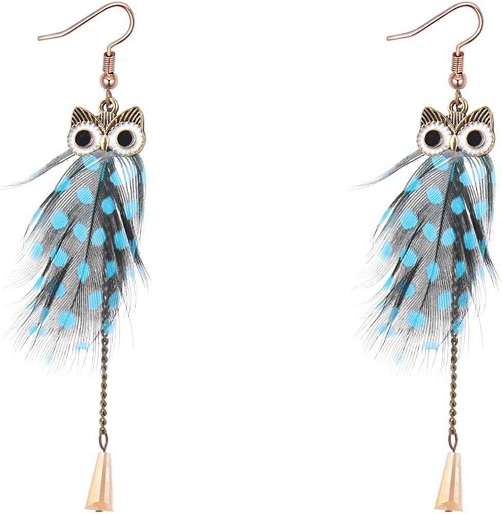 Pink earrings beautiful feather earrings Easter gifts for her beautiful Birthday gifts for wife gifts for girlfriend wife mother gifts