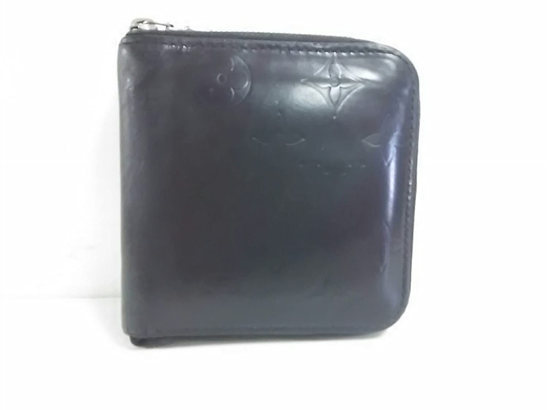 (ルイヴィトン) LOUIS VUITTON 2つ折り財布 ポルト ビエ モネジップ モノグラムグラセ M66510 【中古】 B07DXD9BBY  -