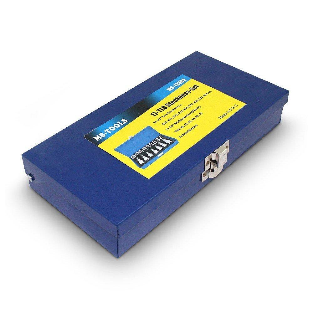 Coffret kit 16 cl/és Torx Bleu