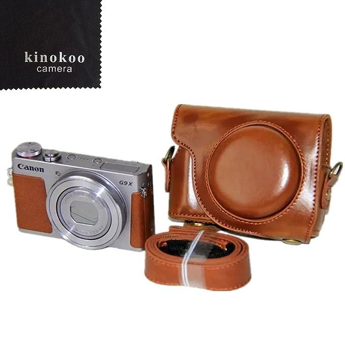 4 opinioni per kinokoo brown Custodia per fotocamera per Canon PowerShot G9X e G9X Mark2 con PU