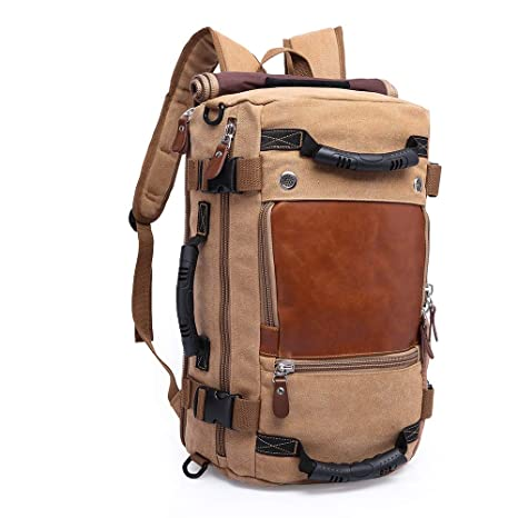 948db35b8d9a Image Unavailable. Image not available for. Color  KAKA Canvas Backpack
