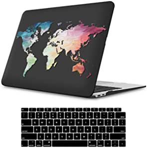 NKDCase Case for Newest MacBook Air 13 inch Model A2179 Cut Out Design,Plastic Ultra Slim Light Hard Case Keyboard Cover Compatible MacBook Air 13 inch with Retina Display Touch ID,Geography 31