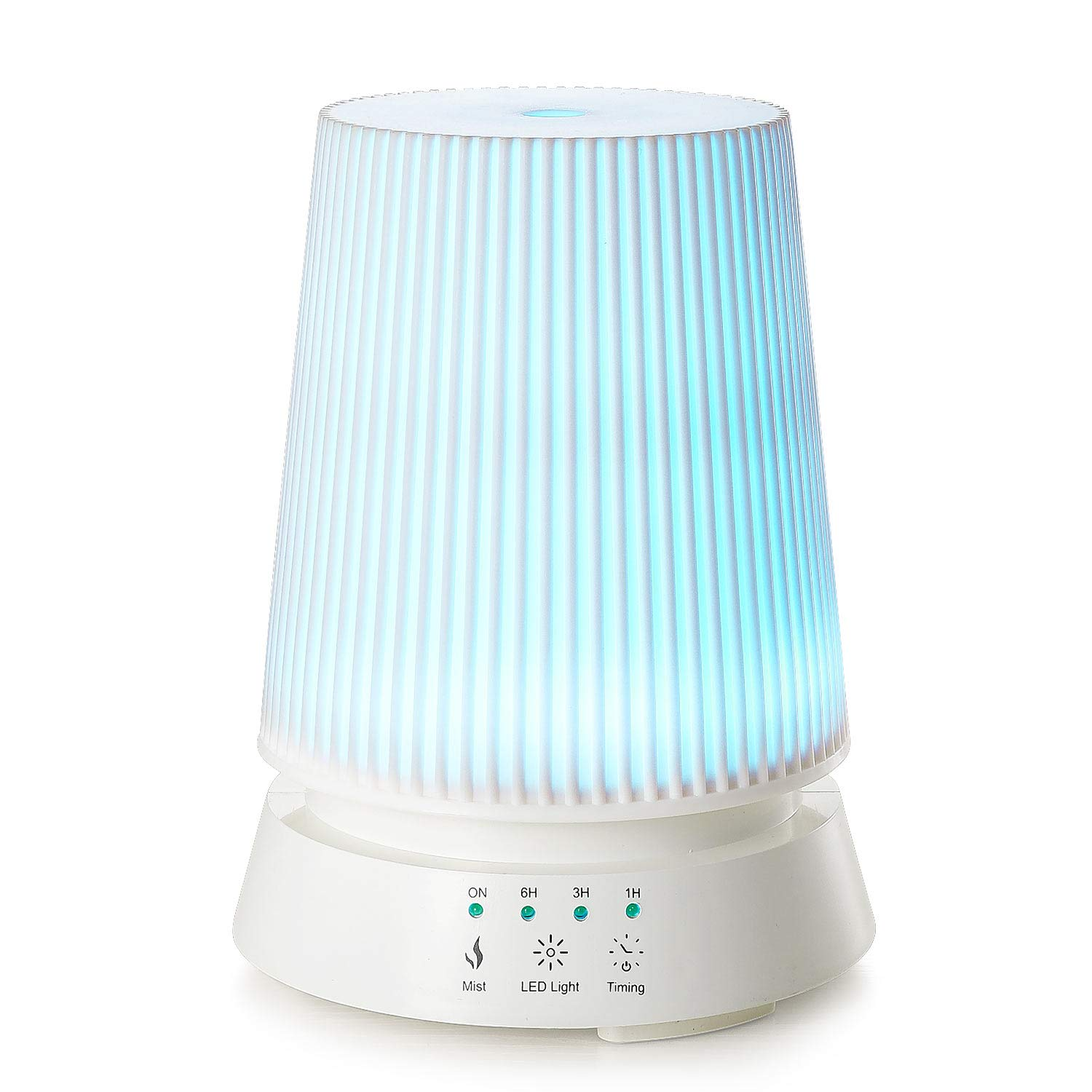 Linkind 350ml Essential Oil Diffuser Nightlight Ultrasonic Cool Mist Humidifier with Waterless Auto-off, 4 Timer Settings, 7 Colors Changing LED lights, Adjustable Mist Mode for Home, Office