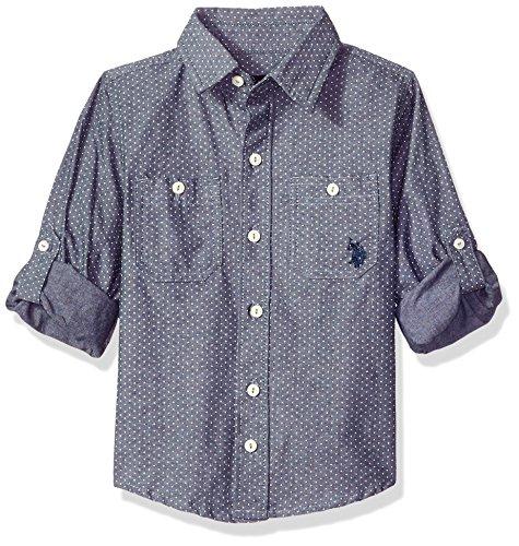 U.S. Polo Assn. Boys Long Sleeve Chambray Sport Shirt