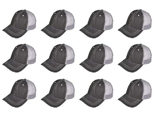 593ed20d9 Amazon.com: BK Caps Dozen Pack Wholesale Low Profile Unstructured ...