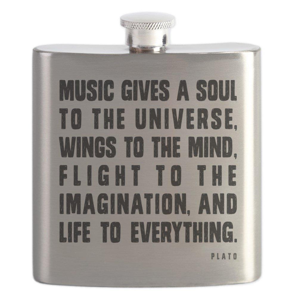 訳あり CafePress – a – 音楽gives a soul B01IUGAHDU to the Universe – ステンレススチールフラスコ、6オンス酒フラスコ B01IUGAHDU, アリダグン:f390de13 --- a0267596.xsph.ru