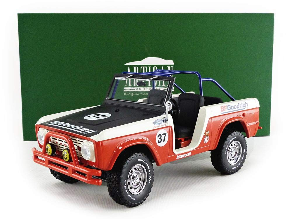 Amazon.com: Greenlight 19037 1: 18 Artisan Collection - 1966 Ford Baja Bronco #37 BFGoodrich: Toys & Games
