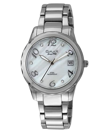 Omax Mujeres Reloj analógico Moderno Plata Blanco - ls189: Amazon.es: Relojes