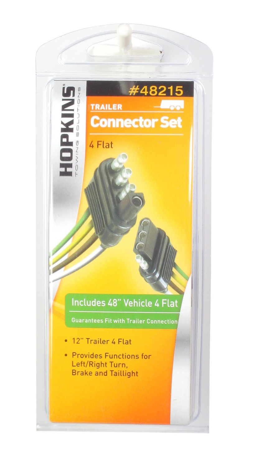 Hopkins 48215 4 Wire Flat Connector Set Includes 48035 Plug In Simple Vehicle Wiring Harness With Pole Trailer And 48115 Automotive