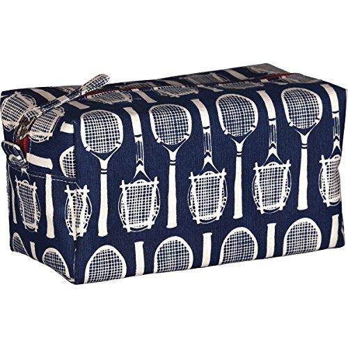 rockflowerpaper Wimbledon Navy Tennis Cosmetic Bag Dopp Kit