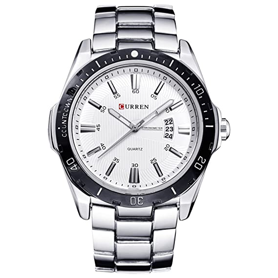 Nuevo producto de moda para hombre reloj acero inoxidable ...
