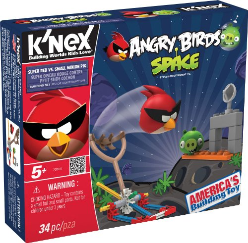 K'NEX Angry Birds Space-Super Red vs. Small Minion - Birds Space Angry Toys
