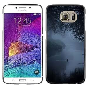 Caucho caso de Shell duro de la cubierta de accesorios de protección BY RAYDREAMMM - Samsung Galaxy S6 SM-G920 - Fog Mist Lake Duck Nature Spring