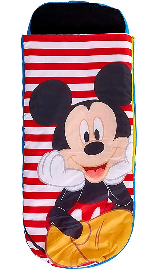 PEGANE - Cama Hinchable de Mickey Mouse para niños con Bolsa ...