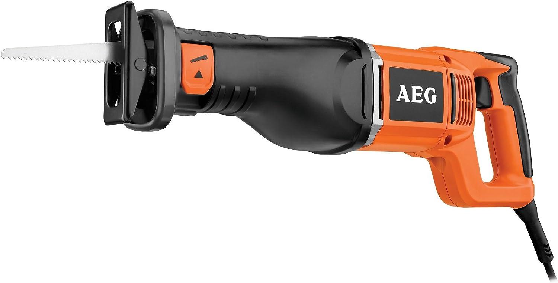 AEG 4935413235 Sierra de sable 1300 W-FIXTEC 2800 spm, Negro, Naranja