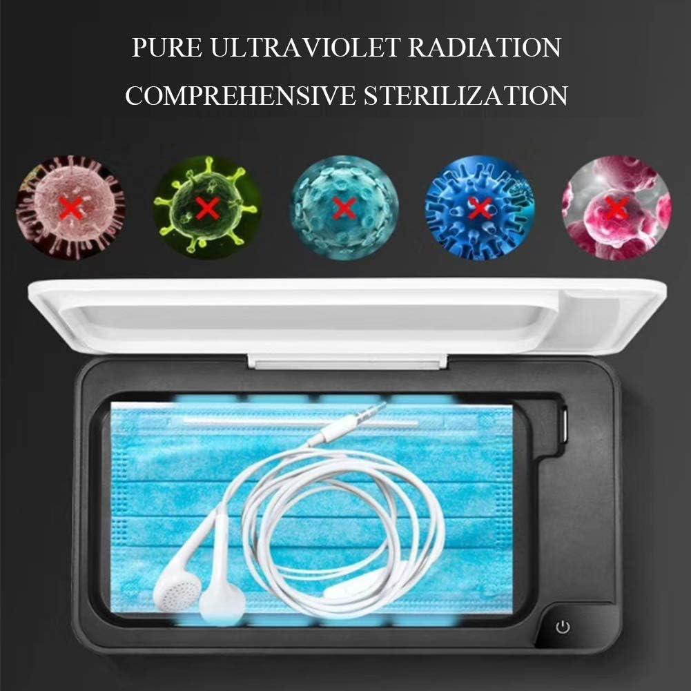 Strumenti di Trucco Lugang LED UV Phone Sanitizer Multi-Function Sterilizzatore UV Box con Rivestimento Nano E Ricarica Senza Fili Adatto A Stoviglie Gioielli